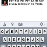 Facebook Tip – status updates from a mobile device