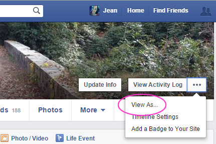How to view your Facebook profile as someone else