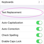 How to add a Keyboard Shortcut in iOS for faster typing