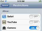 "Here are instructions for setting parental control restrictions on an iPod touch or iPad.  This will also work on an iPhone.   If you are ""locking down"" your child's device and installing a kid-safe browser, then install the kid-safe browser first.  Then follow these steps. 1. From the child's iPod or..."