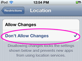 [Updated for iOS 6] Learn how to turn off Location Services on the iPod touch, iPad and iPhone.  Prevent your kids from sharing their location on Instagram, Facebook and other apps.  Then prevent them from changing the savings.