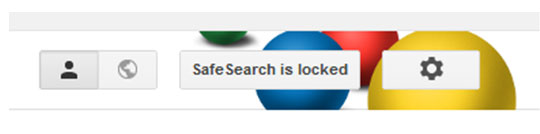 Safe search is locked
