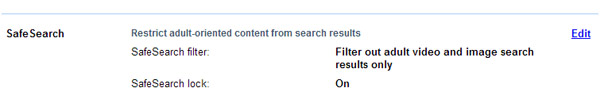 Edit SafeSearch filter in Yahoo