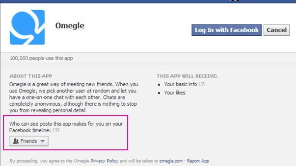 Omegle connecting with Facebook
