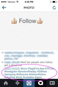 That's a lot of hashtags!