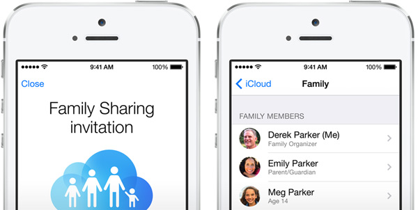 Family sharing invite in iOS8
