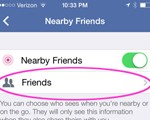Facebook Nearby Friends allows for easy sharing of location