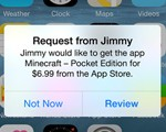 ios8 purchase request