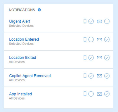 Copilot Family notification settings