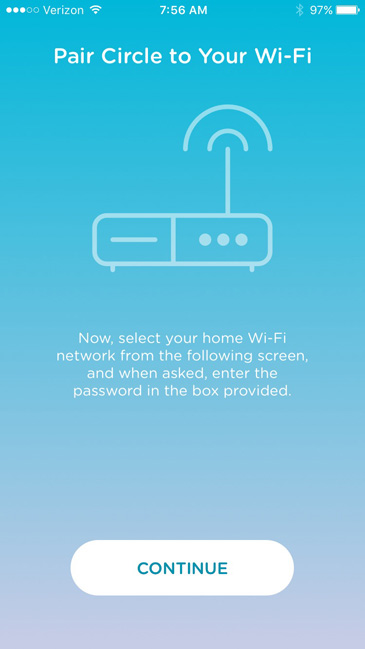 Pairing your Circle parental control device to your WiFi