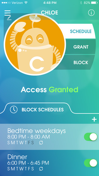 OurPact app allows you to set device bedtime and schedules