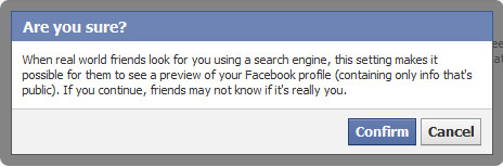 Keep your Facebook profile off search engines   Be Web Smart