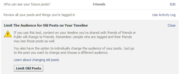 how to delete all old posts on facebook