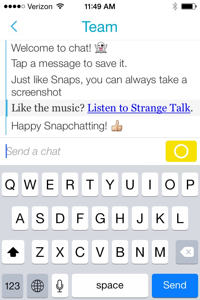 Snapchat adds messaging
