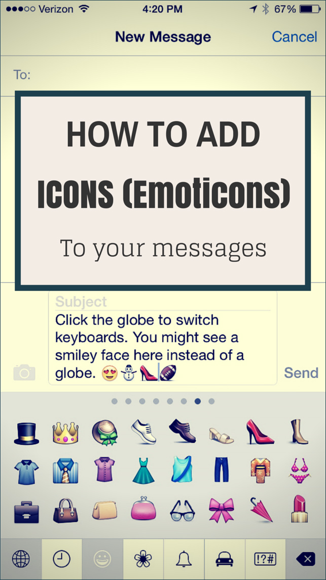 How To Add Icons Emoticons To Your Messages Be Web Smart