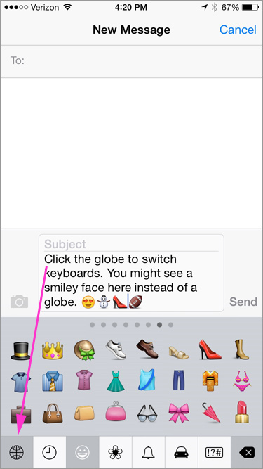 How to add icons (emoticons) to your Messages | Be Web Smart