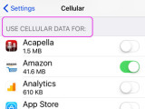 Prevent Apps from using cellular data on an iPhone (video)
